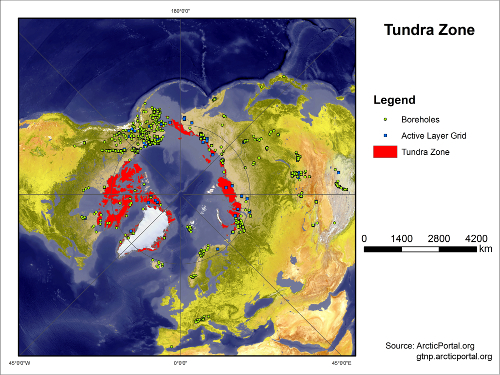 Tundra Boreholes Active Layer Map SMALL
